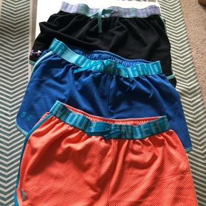 3 pairs of girls Under Amour shorts